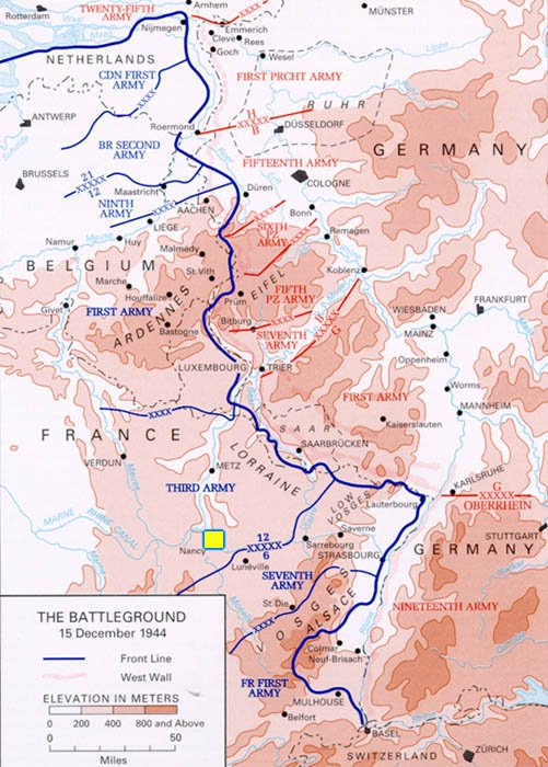 Allied and Axis Positions 12-15-44