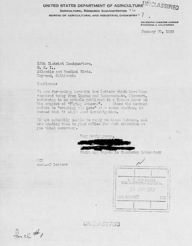 DOA Letter