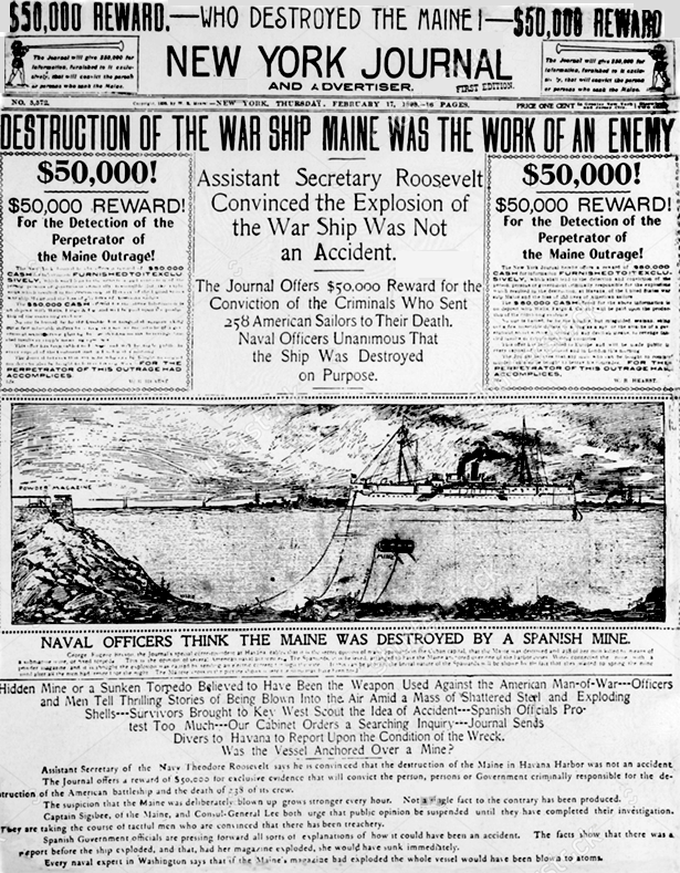 NY Journal Front Page 1898