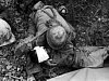 Saipan Soldier Comforting Wounded Comrade